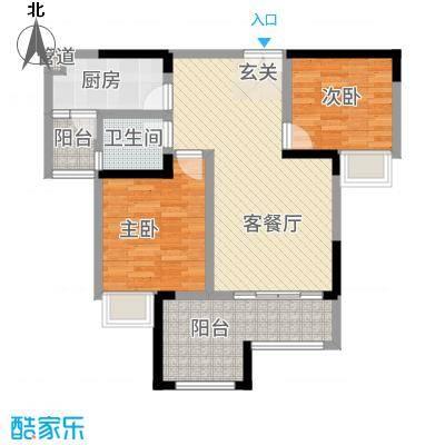 昌龙阳光尚城8.20㎡一期8幢标准层8-4户型