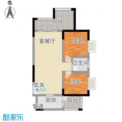 昌龙阳光尚城8.20㎡一期8幢标准层8-7户型