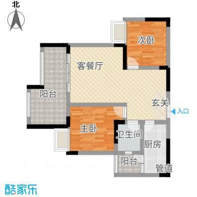 昌龙阳光尚城8.20㎡一期8幢标准层12-3户型
