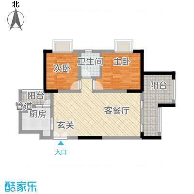 昌龙阳光尚城8.20㎡一期8幢标准层8-6户型
