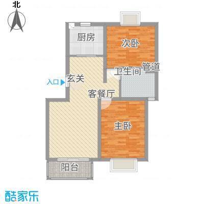 高速云水湾2112.20㎡B户型2室2厅1卫1厨
