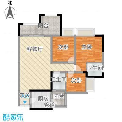 昌龙阳光尚城8.20㎡一期8幢标准层12-5户型