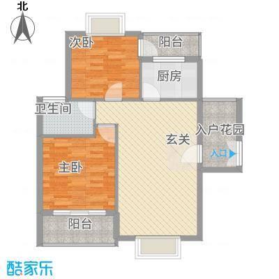 浅水湾・中央公园86.14㎡H户型2室2厅1卫
