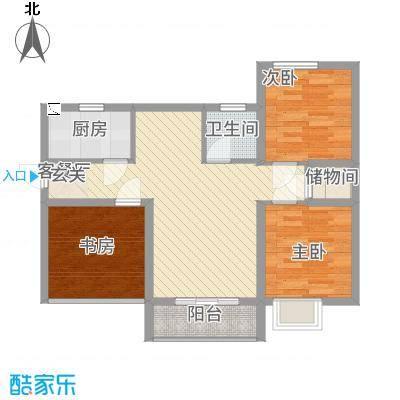 宏帆・观湖278.20㎡F户型2室2厅1卫1厨