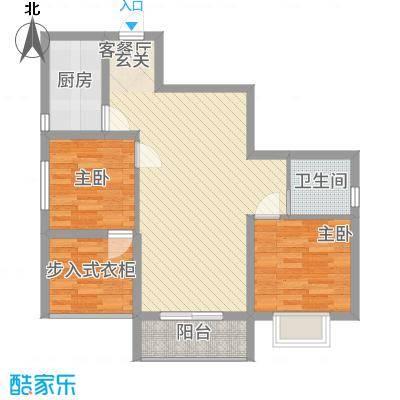 宏帆・观湖277.43㎡B户型2室2厅1卫1厨