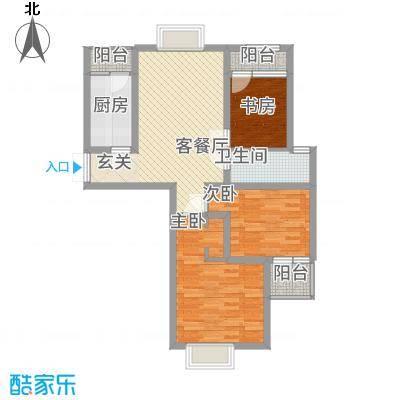天筑香城13.00㎡A1户型3室2厅1卫