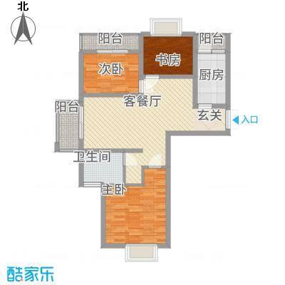 天筑香城13.40㎡A户型3室2厅1卫
