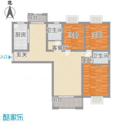 天筑香城128.40㎡C户型3室2厅2卫