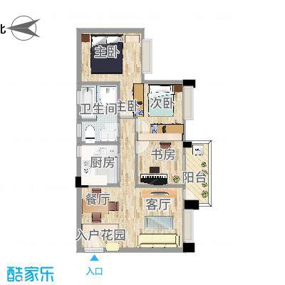 金域廊院1003装修设计方案