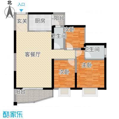 荣顾购物公园11.24㎡钻石园3#1单元03/053室户型3室2厅2卫