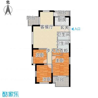 尚湖中央花园14.20㎡N户型3室2厅2卫1厨