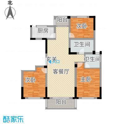 东方花园3146.20㎡F户型3室2厅2卫1厨