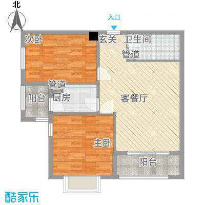 东方丽池2.21㎡户型