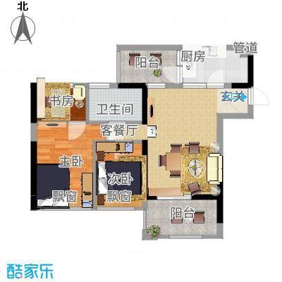 星河传说迪纳公寓101.00㎡星河传说迪纳公寓户型图迪纳公寓3室户型图3室2厅2卫1厨户型3室2厅2