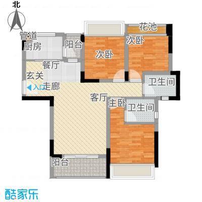 美丽湾畔花园94.48㎡1号楼标准层01、03户型2室2厅-副本