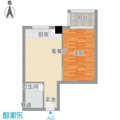 朝阳广场57.00㎡昆山户型