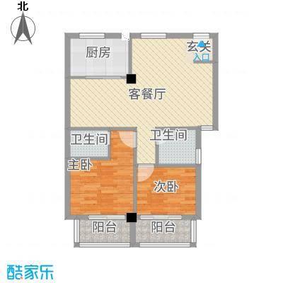 朝阳广场88.00㎡昆山户型