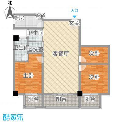 朝阳广场135.00㎡昆山户型