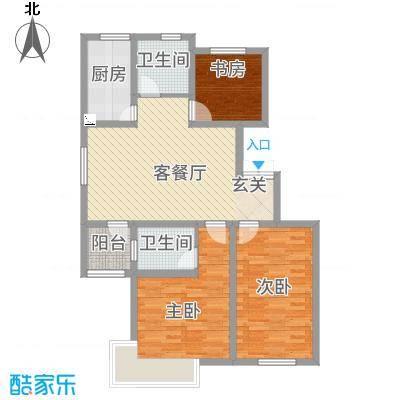 上海外郡112.31㎡户型