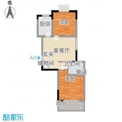 上海外郡87.24㎡户型