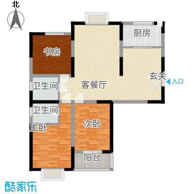 梧桐广场138.61㎡圣爵丽舍户型3室2厅2卫1厨