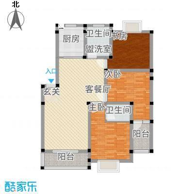 梧桐广场127.00㎡水晶丽舍户型3室2厅2卫1厨