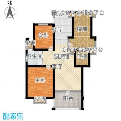 盛泰丹桂苑89.00㎡标准层A2面积8900m户型-副本