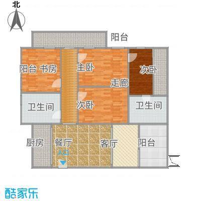 懋达-兰溪豪邸-D区高层E1反户型设计图