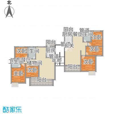 黄浦城市花园127.12㎡户型