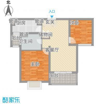 黄浦城市花园88.00㎡户型