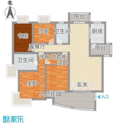 黄浦城市花园181.13㎡户型