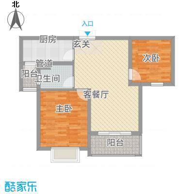 黄浦城市花园87.15㎡户型