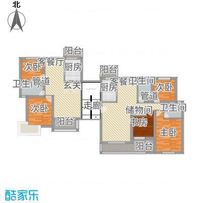 黄浦城市花园88.80㎡户型