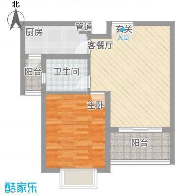 黄浦城市花园68.00㎡户型