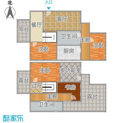 懋达-兰溪豪邸-A区洋房顶跃E1反户型设计图