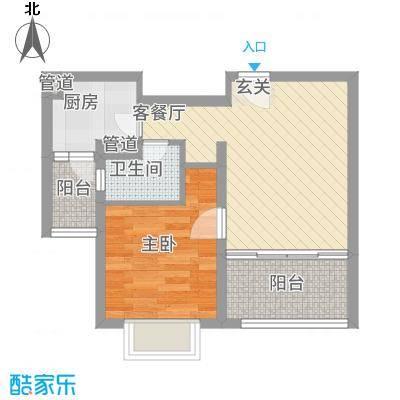 上海裕花园55.00㎡昆山户型
