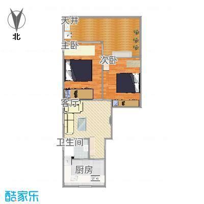 上海_紫竹小区方案2U形厨房