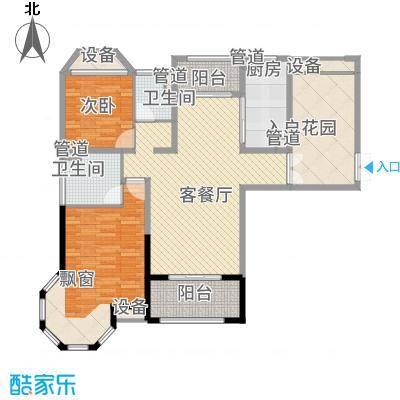 海门中南世纪锦城128.00㎡户型3室2厅2卫1厨-副本