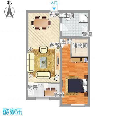 中油呼炼小区中油呼炼小区户型图花2室1厅12室户型2室-副本