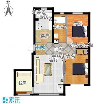 知润山77.00㎡L户型'二+一'室两厅77平米,10#11#户型2室1厅1