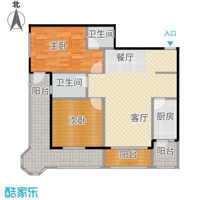 安德小城故事102.49㎡2011年10月发售1期1批次A3型户型2室1厅2卫1厨-副本