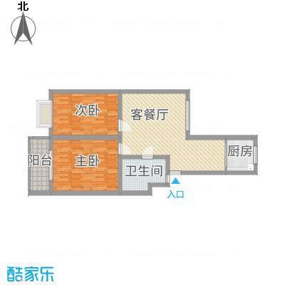 乾得龙・怡鑫苑85.17㎡6#C户型2室2厅1卫1厨-副本