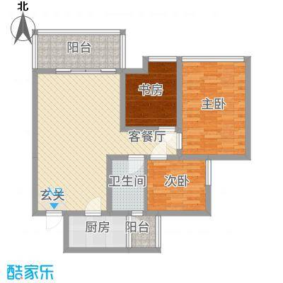 华润苑28户型3室2厅2卫1厨