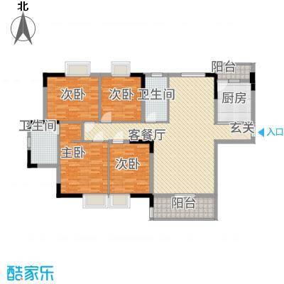 永江花园香溪148.00㎡永江花园香溪户型图1栋C户型4室2厅2卫1厨户型4室2厅2卫1厨-副本