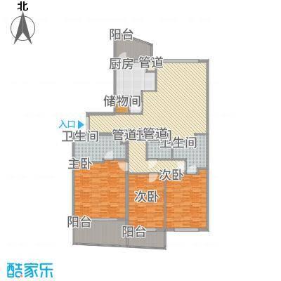 瑞苑公寓227.00㎡三房户型3室2厅3卫-副本