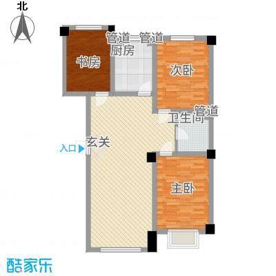 晟宝龙广场14.23㎡4#洋房D户型3室2厅1卫1厨