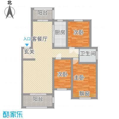 渝水印象C户型3室2厅1卫1厨