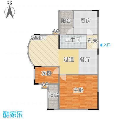 金科丽苑75.40㎡房型户型-副本