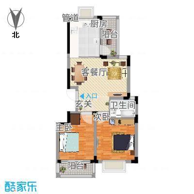 长兴苑两室两厅一卫102.24平米F户型10室-副本