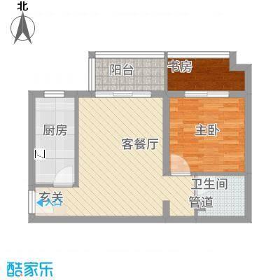 万福大厦8.00㎡户型2室1厅2卫1厨